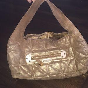 Rafé large quilted gold burnished boho purse